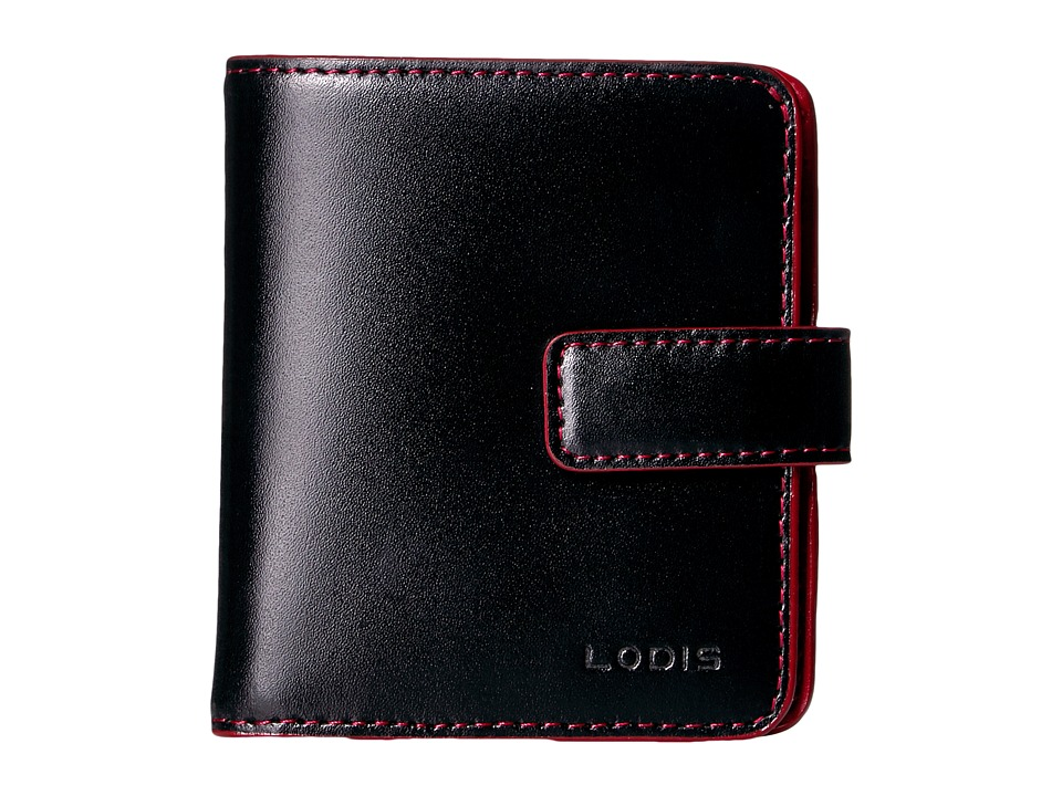 Lodis Accessories - Audrey RFID Card Case Petite Wallet (Black RFID) Bi-fold Wallet