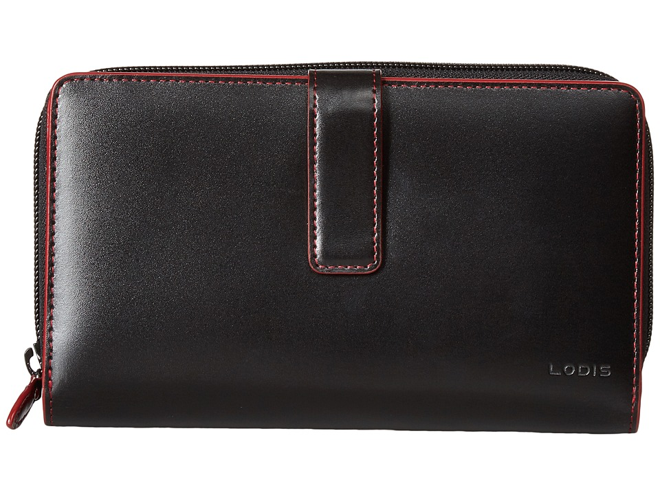 Lodis Accessories - Audrey RFID SUV Deluxe Wallet W/ Removable Checkbook (Black RFID) Checkbook Wallet