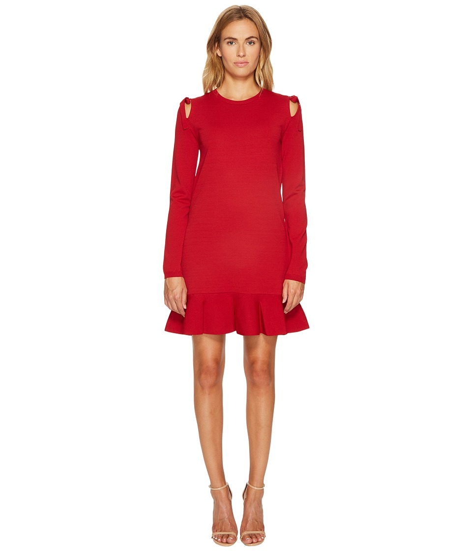 RED VALENTINO Stretch Viscose Yarn Bows Dress (Lacca) Women