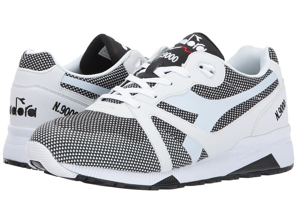 Diadora N9000 Arrowhead (Optical White/Black) Athletic Shoes