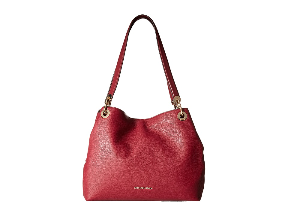 Michael Kors Raven Large Shoulder Tote (Mulberry) Tote Ha...