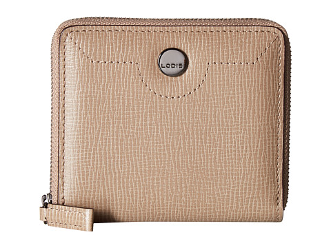 Lodis Accessories Business Chic RFID Amaya Zip French Wallet - Taupe
