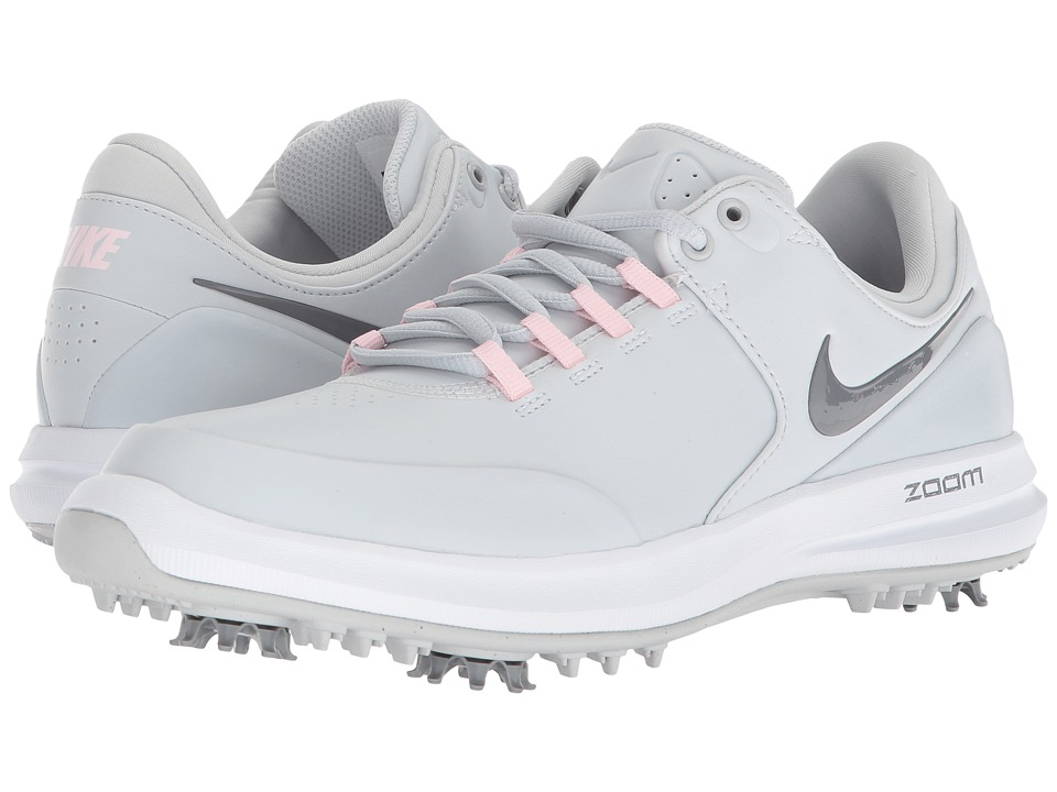 Nike Golf Air Zoom Accurate (Pure Platinum/Cool Grey/Arctic Pink/White) Women's Golf Shoes