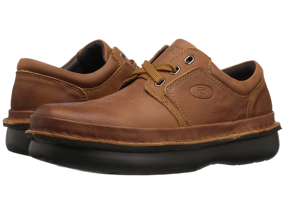 Propet - Village Walker Medicare/HCPCS Code = A5500 Diabetic Shoe (Cognac) Mens Lace up casual Shoes