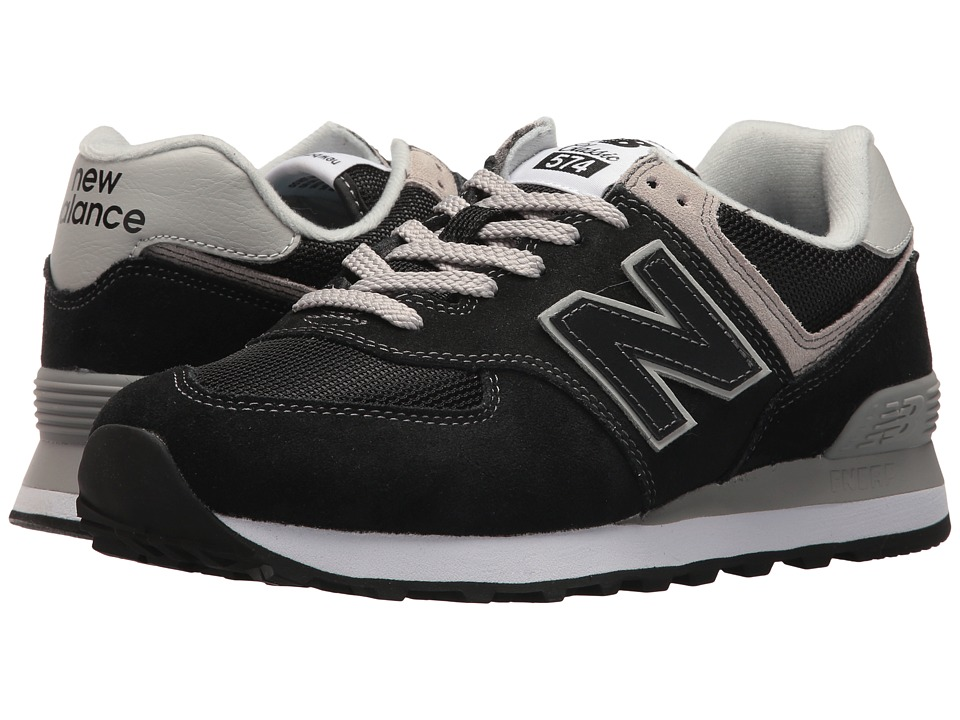 New Balance Classics WL574v2 (Black/White) Women's Running Shoes
