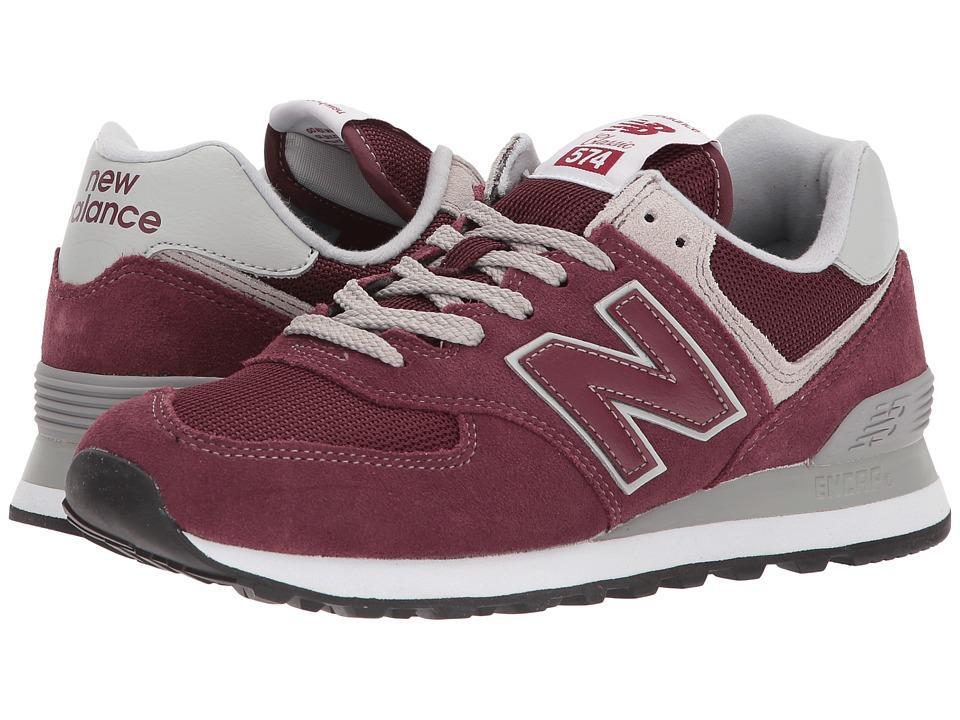 New Balance Classics WL574v2 (Burgundy/White) Women's Running Shoes