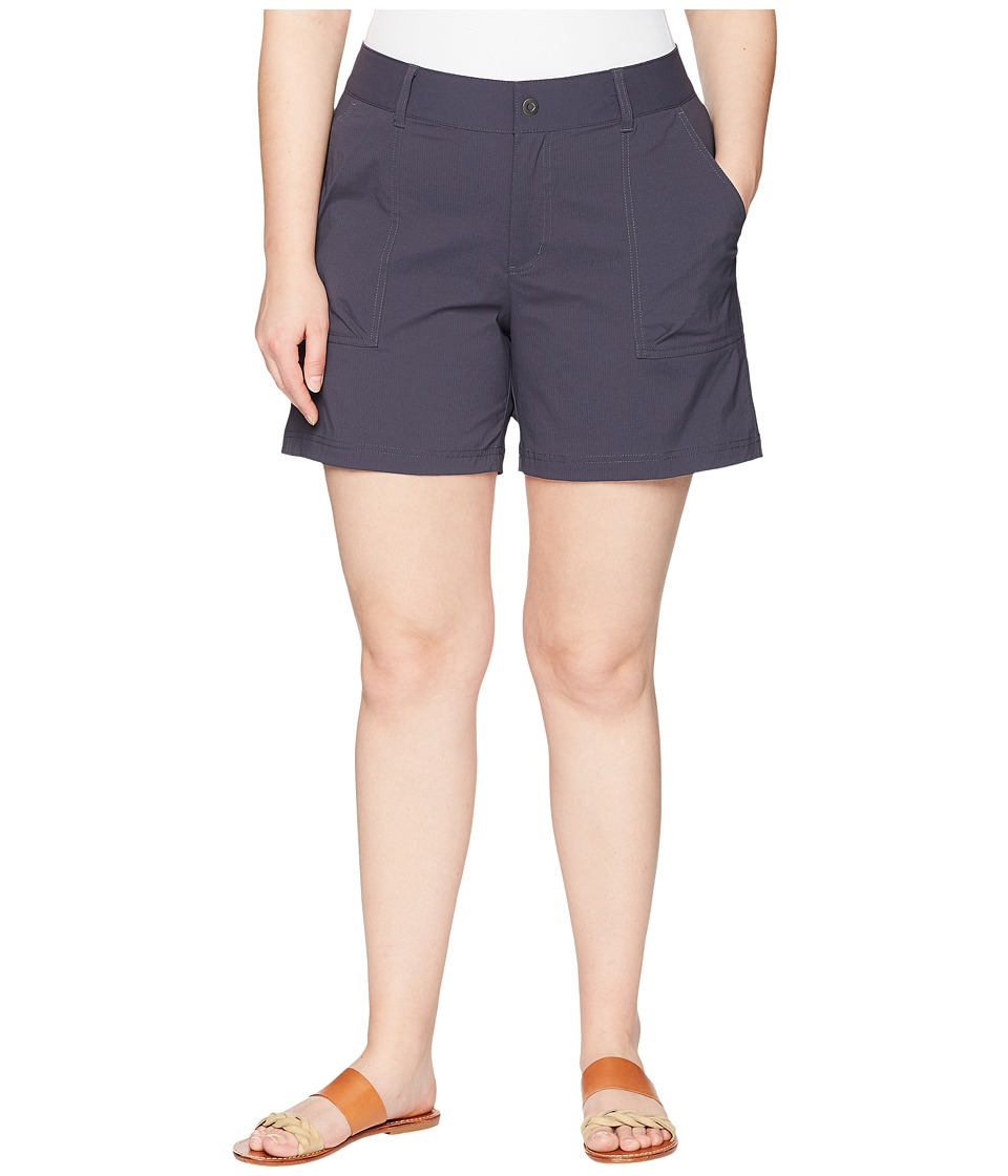 Columbia Plus Size Silver Ridge Stretch Shorts II (India Ink) Women