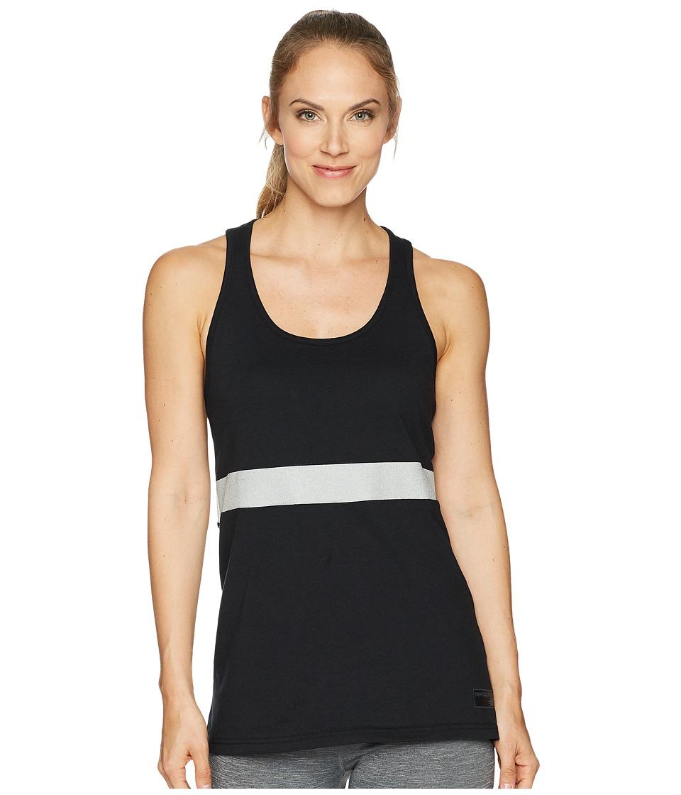New Balance - NB Athletic Novelty Tank Top (Black/Silver) Womens Sleeveless