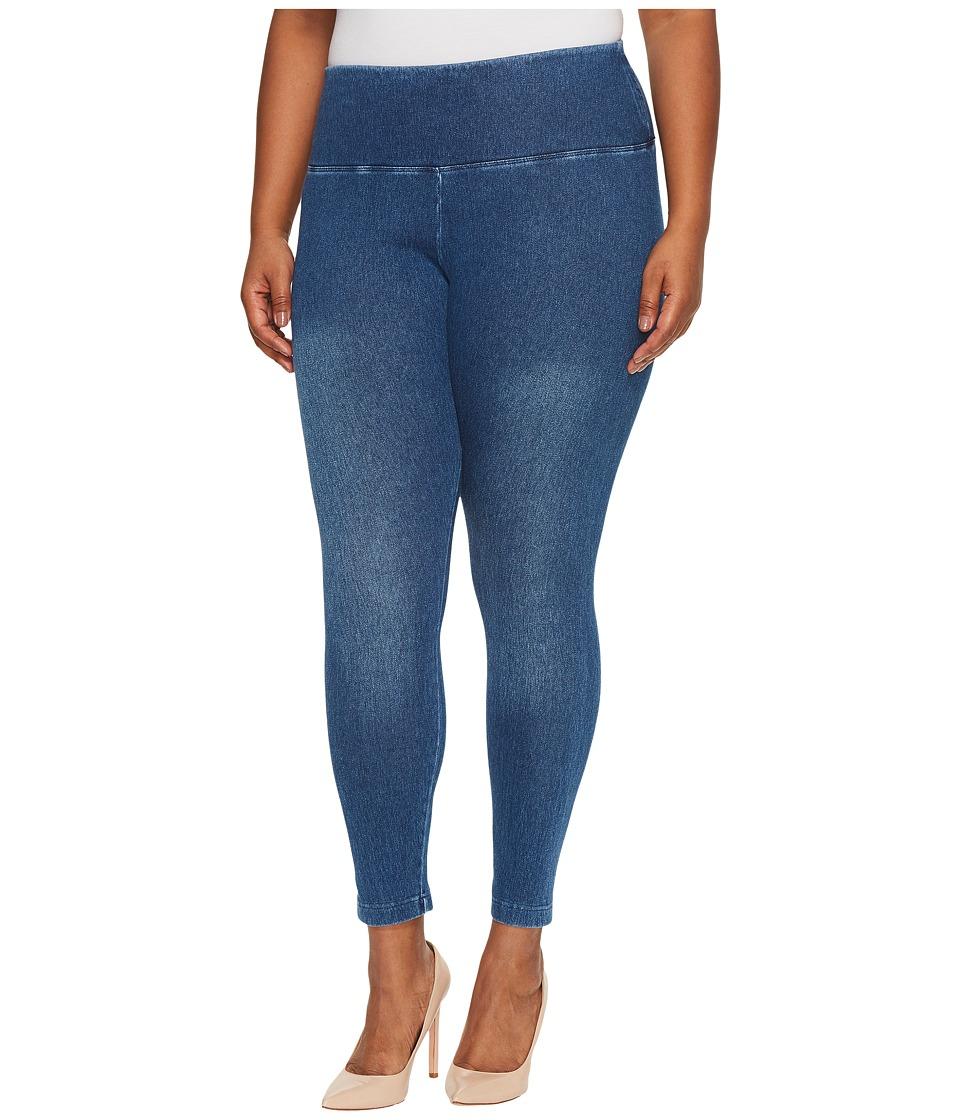 Lysse Plus Size Denim Leggings (Mid Wash) Women's Casual Pants