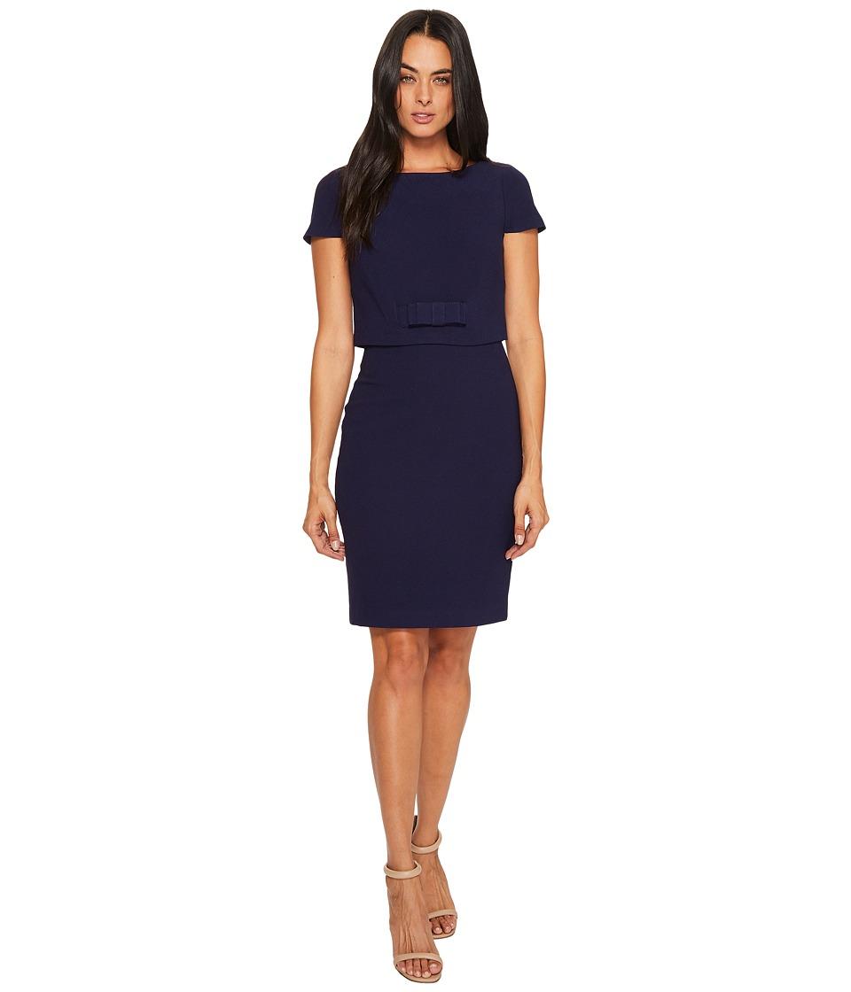 Badgley Mischka - Cap Sleeve Popover Dress