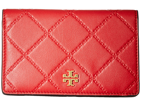 Tory Burch Monroe Slim Medium Wallet - Liberty Red
