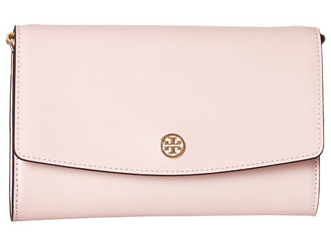 Tory Burch Parker Chain Wallet - Pink Quartz Leather
