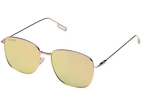 PERVERSE Sunglasses Em - Charming/Gold Metal/Pink Mirrored