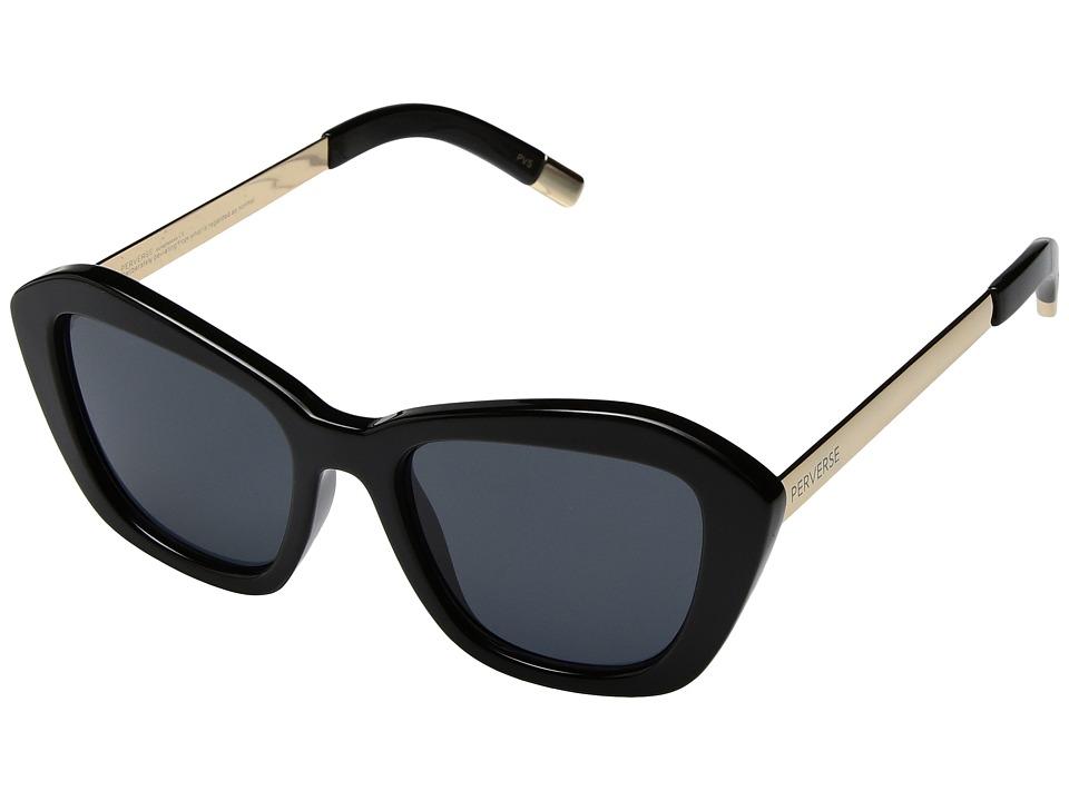 PERVERSE Sunglasses My (Darling/Glossy Black/Gold/Black) Fashion Sunglasses