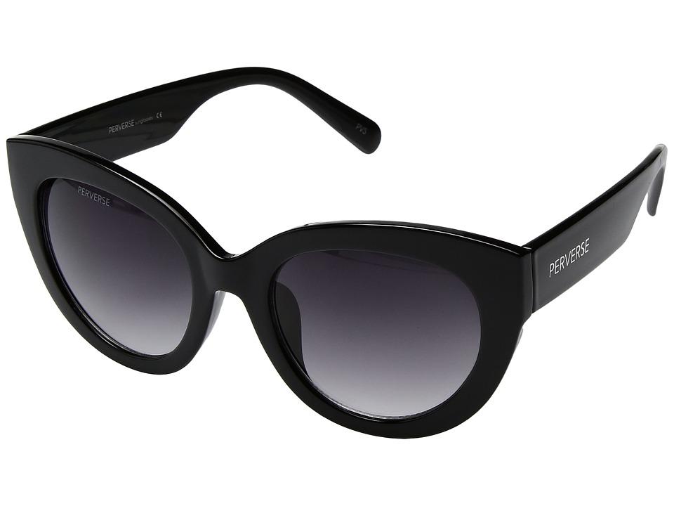 PERVERSE Sunglasses - Dahlia (Blackout/Glossy Black/Black Gradient) Fashion Sunglasses