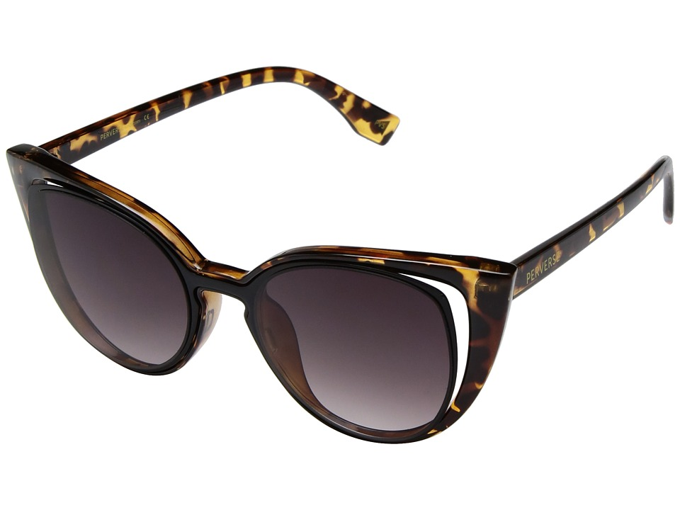 PERVERSE Sunglasses Saga (Fable/Glossy Tortoise/Black Gradient) Fashion Sunglasses