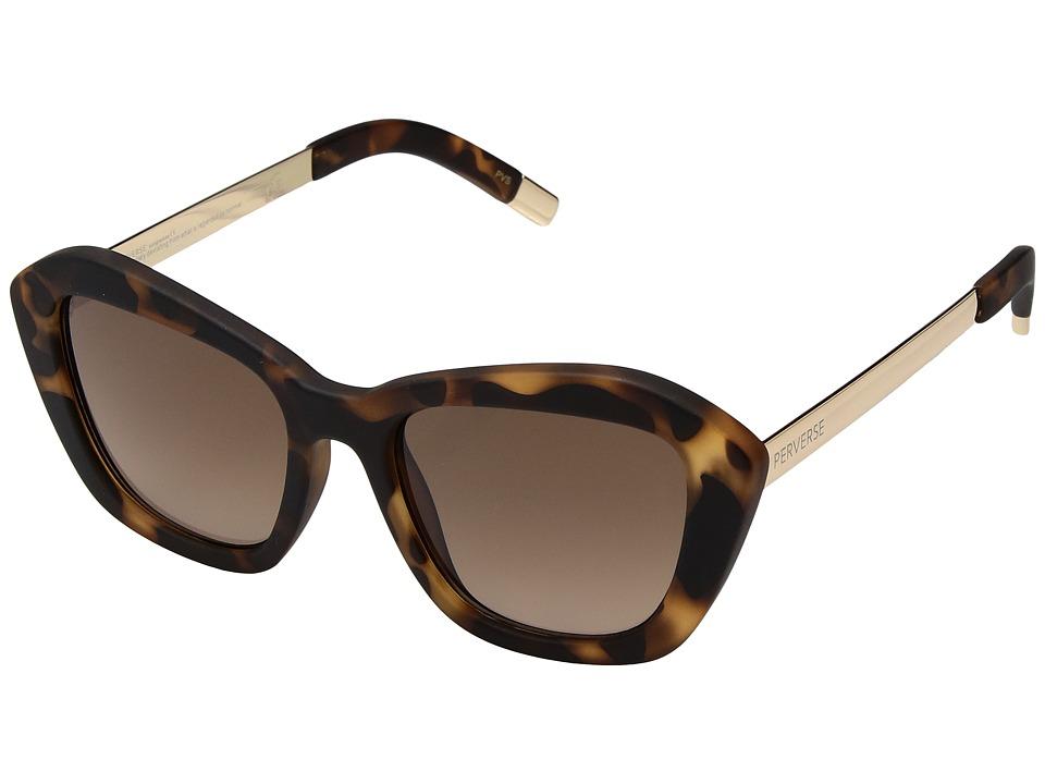 PERVERSE Sunglasses My (Ride/Matte Tortoise/Gold/Brown) Fashion Sunglasses