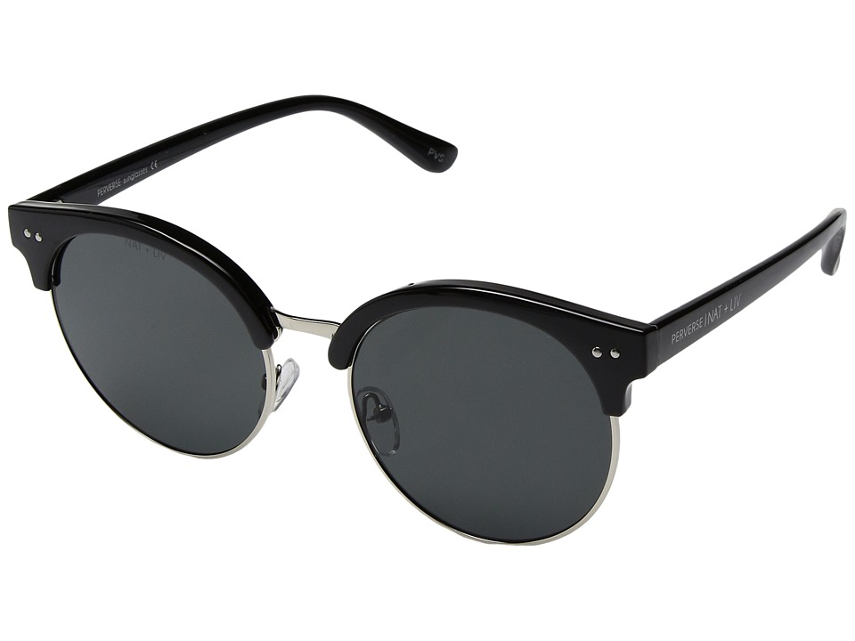 PERVERSE Sunglasses Moonlight (Mystery/Glossy Black/Silver/Black) Fashion Sunglasses