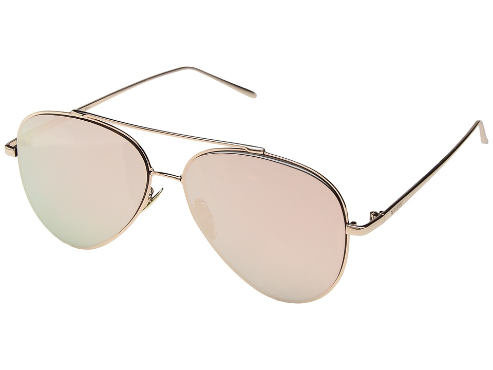PERVERSE Sunglasses Tonibologni (Marroni/Gold Metal/Rose Gold Mirrored) Fashion Sunglasses