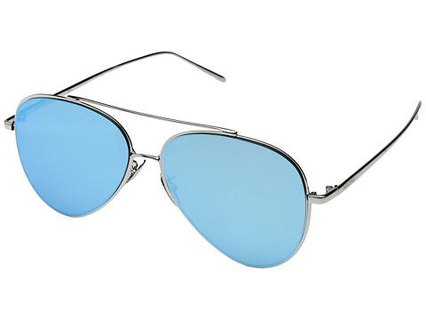 PERVERSE Sunglasses Tonibologni - Macaroni/Silver Metal/Aqua Blue Mirrored