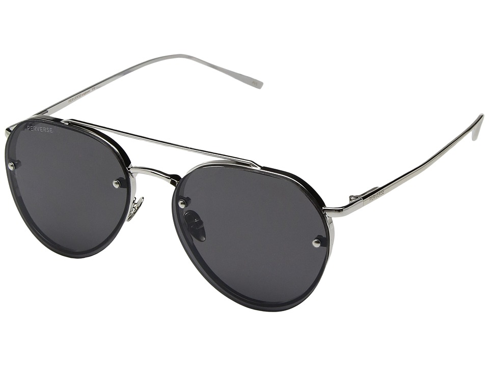 PERVERSE Sunglasses Dean (Ali/Silver Metal/Black Mirrored) Fashion Sunglasses