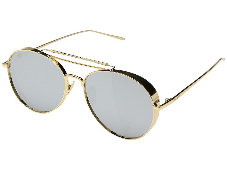 PERVERSE Sunglasses Solid Gold (Dancer/Gold Metal/Smoke Mirrored) Fashion Sunglasses