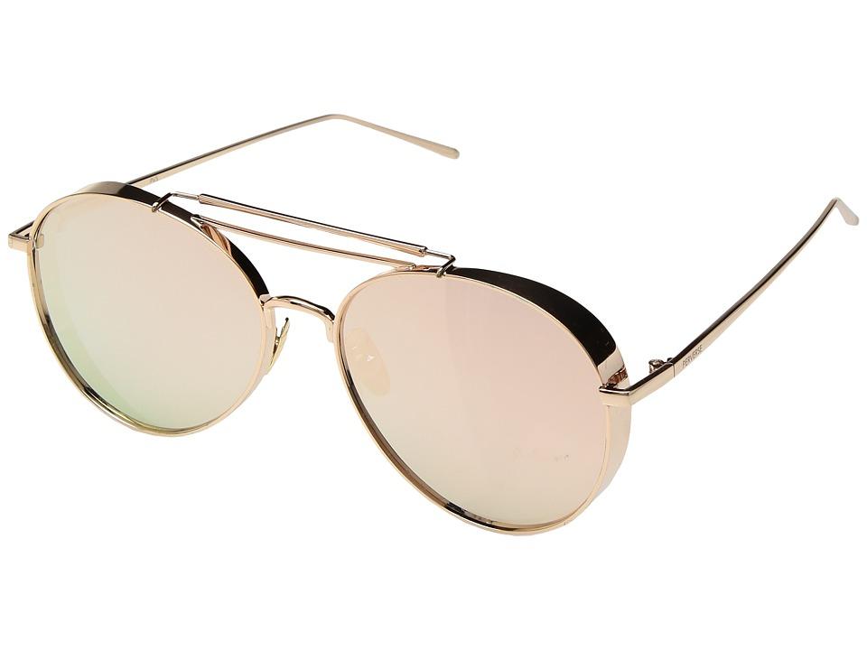 PERVERSE Sunglasses Solid Rose Gold (Ballerina/Rose Gold Metal/Rose Gold Mirrored) Fashion Sunglasses