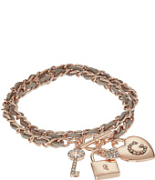 GUESS - Woven Chain Wrap Bracelet with Charms