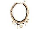 GUESS - Two Row Chain Necklace, One Woven & One with Charms