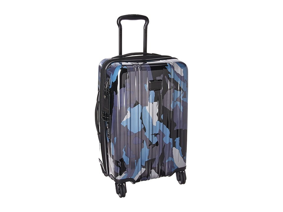 Tumi V3 International Expandable Carry-On (Blue Camo) Carry on Luggage