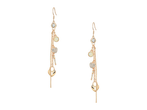 GUESS Charmy Linear Earrings - Rose Gold/White Opal