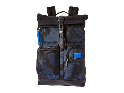 Tumi Alpha Bravo Luke - Roll-Top Backpack - Blue Camo