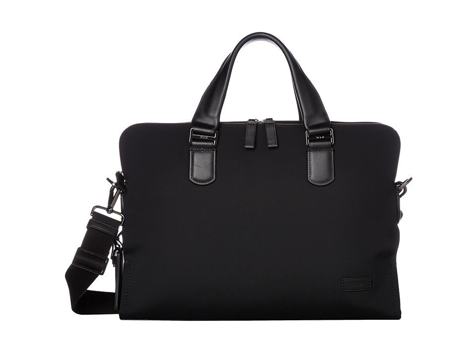 Tumi Harrison Nylon Seneca Slim Brief (Black Nylon) Briefcase Bags