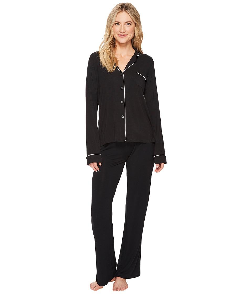 P.J. Salvage - Modal Basics PJ Set (Black) Womens Pajama Sets