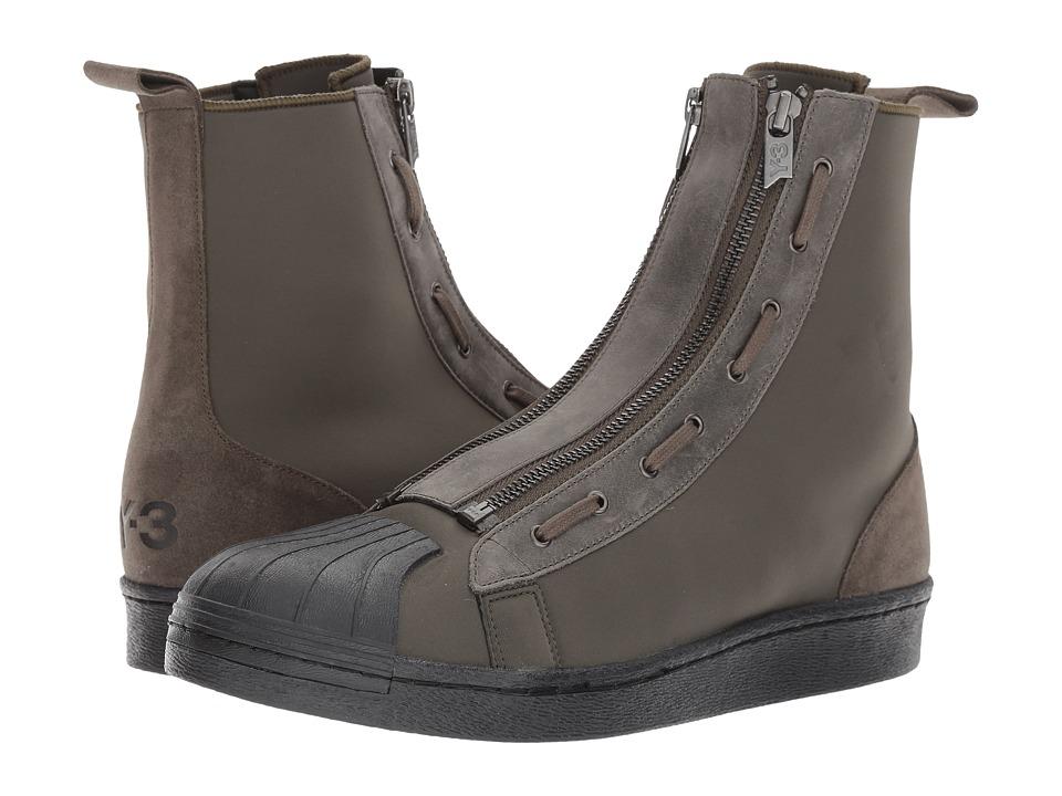 adidas Y-3 by Yohji Yamamoto - Pro Zip (Black Olive/Core Black/Core Black) Shoes