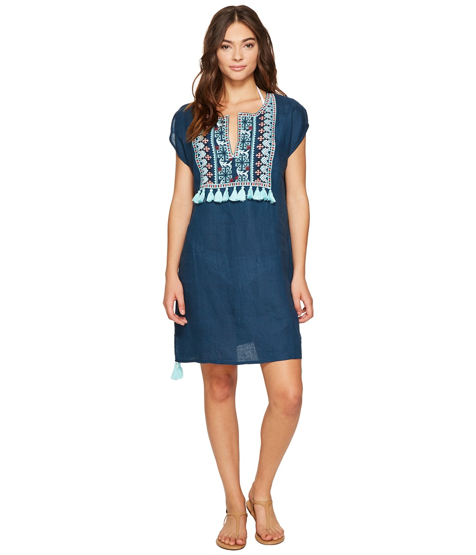 Seafolly Embroidered Cover-Up (Marine Blue) Women