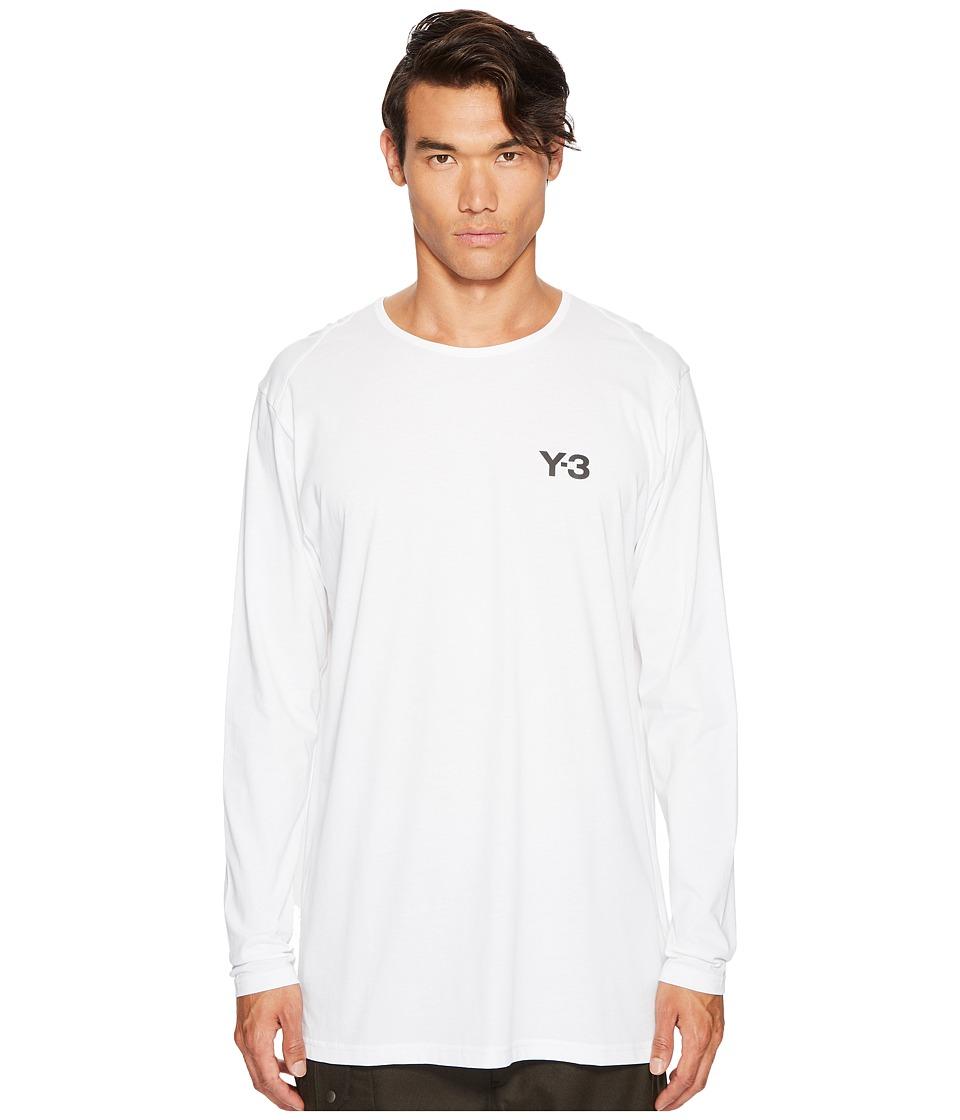 adidas Y-3 by Yohji Yamamoto Logo Long Sleeve Tee (White) Men