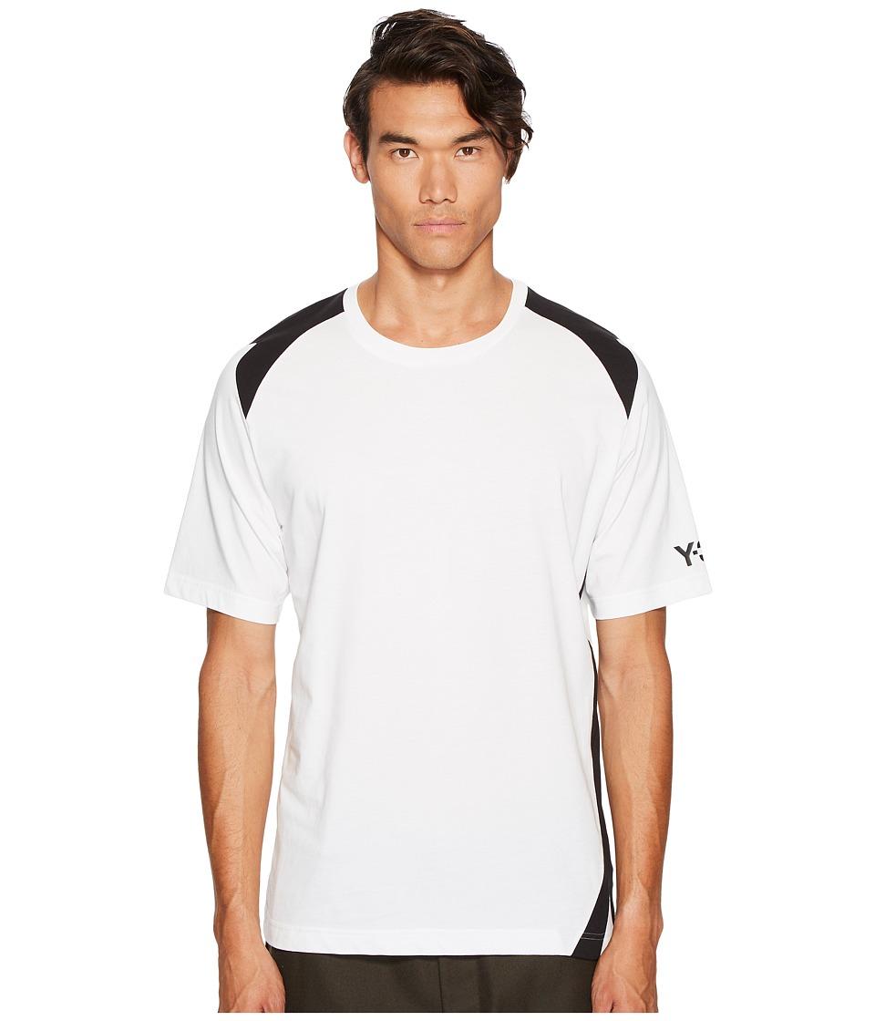adidas Y-3 by Yohji Yamamoto 3-Stripes Short Sleeve Tee (White) Men