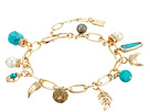 LAUREN Ralph Lauren Turquoise and Pave Mixed Charms Bracelet