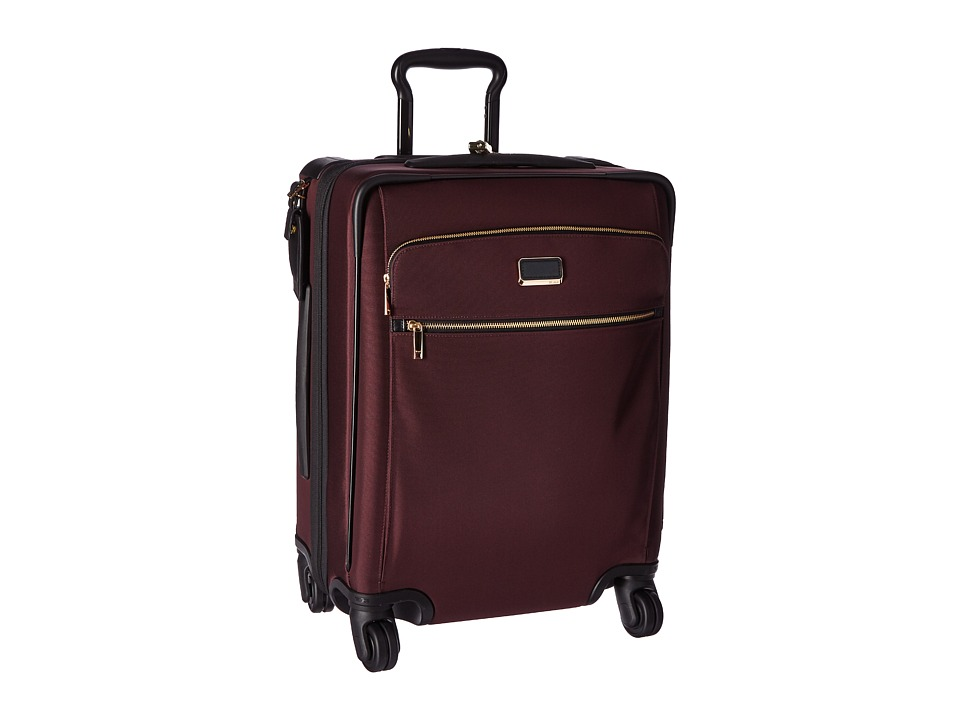 Tumi Larkin Alex Continental Expandable 4 Wheel Carry-On (Bordeaux) Carry on Luggage