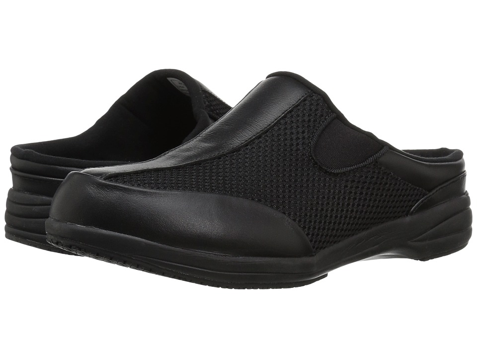 Propet Washable Walker Slide (Black Mesh) Slides