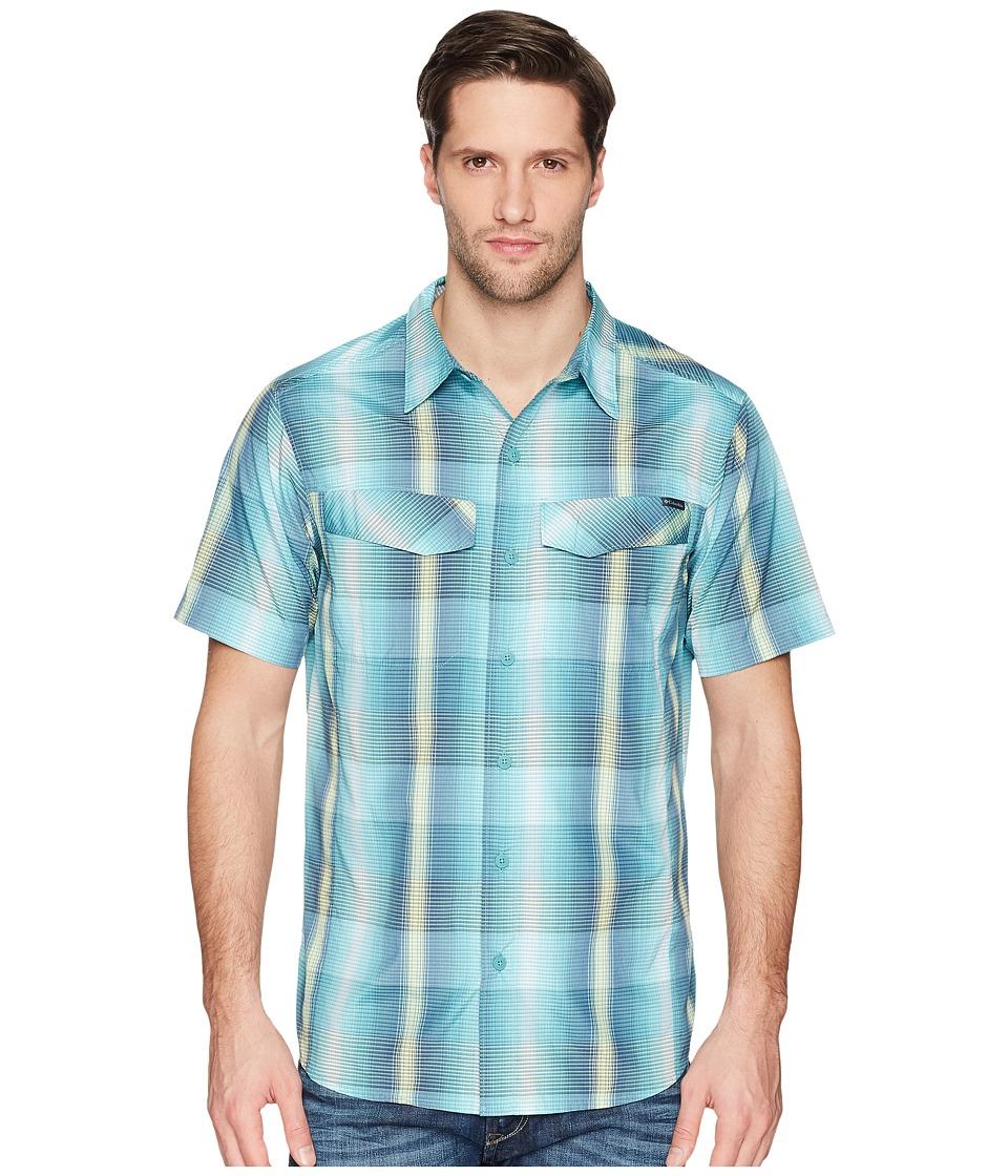 Columbia - Silver Ridgetm Multi Plaid S/S Shirt (Teal Multi Plaid) Mens Short Sleeve Button Up