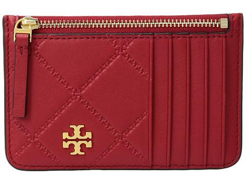 Tory Burch Georgia Top-Zip Card Case - Liberty Red