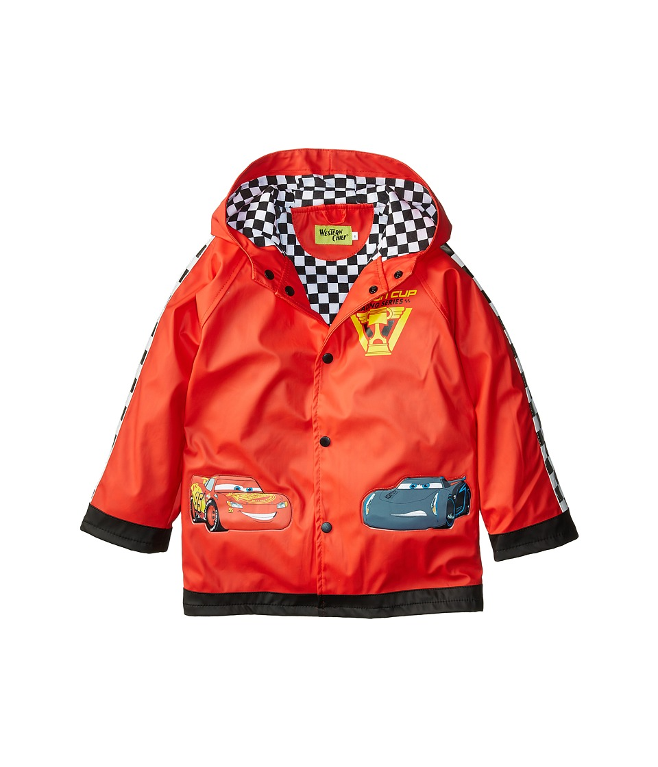 Western Chief Kids - Lightning McQueen Raincoat (Toddler/Little Kids) (Red) Girls Coat