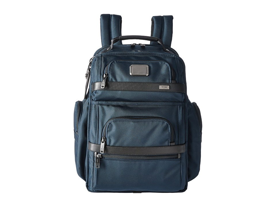 Tumi - Alpha 2 -Tumi T-Pass(r) Business Class Brief Pack(r) (Navy/Black) Luggage -  adult