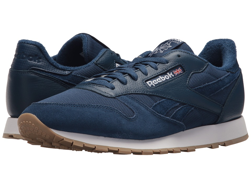 Reebok Lifestyle - Classic Leather ESTL (Washed Blue/White) Mens Shoes