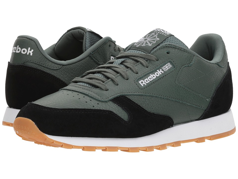 Reebok Lifestyle - Classic Leather GI (Chalk Green/Black/White/Gum) Mens Shoes