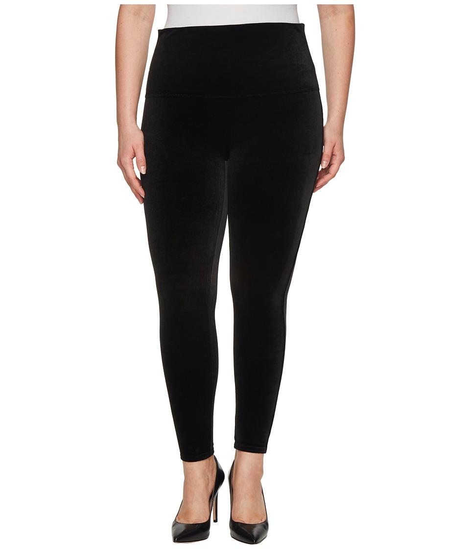 Spanx - Plus Size Velvet Leggings (Black) Womens Clothing