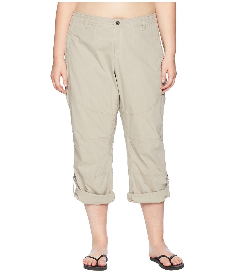 KUHL Plus Size Spire Roll-Up Pants (Light Khaki) Women