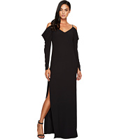 Halston Heritage - Cold Shoulder Draped Long Sleeve Gown